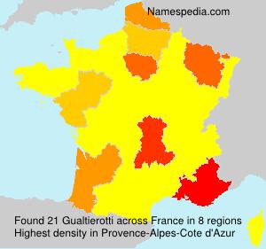 Familiennamen Gualtierotti - France