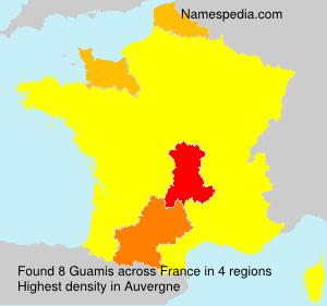 Familiennamen Guamis - France