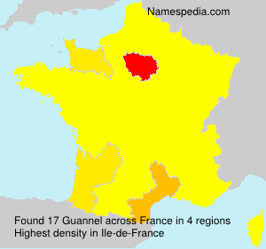Surname Guannel in France