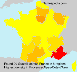 Surname Guatelli in France