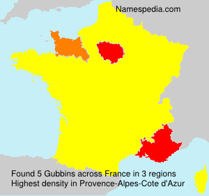 Surname Gubbins in France