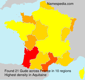 Surname Gude in France
