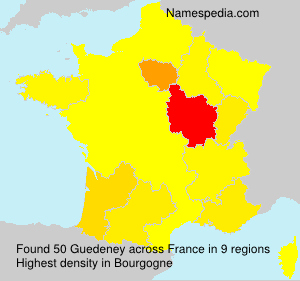 Surname Guedeney in France