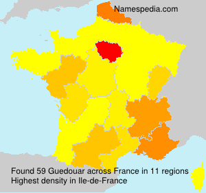 Surname Guedouar in France