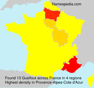 Surname Guelfout in France