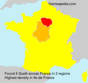 Surname Guelli in France