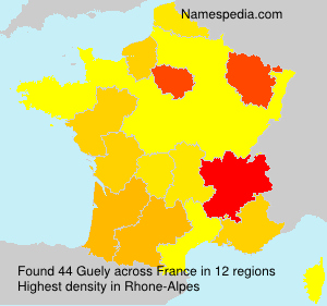 Surname Guely in France