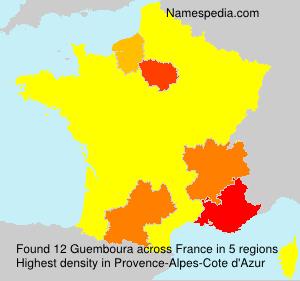 Familiennamen Guemboura - France