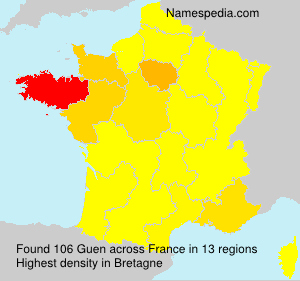 Surname Guen in France