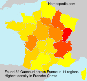 Surname Guenaud in France