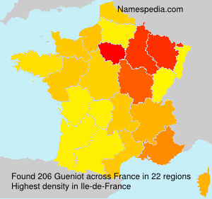 Surname Gueniot in France