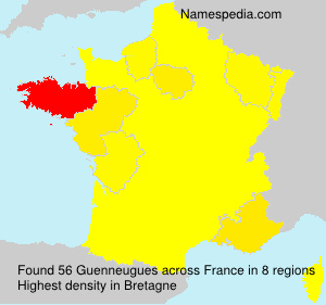 Surname Guenneugues in France