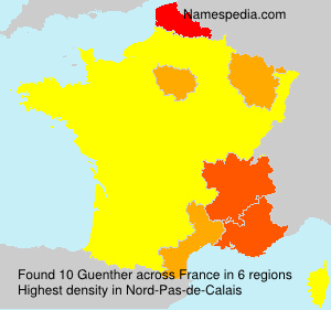 Surname Guenther in France