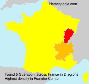 Familiennamen Gueraouni - France