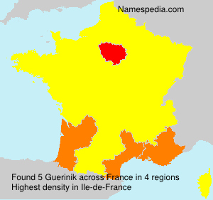 Surname Guerinik in France