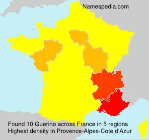 Familiennamen Guerino - France