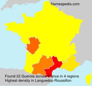 Familiennamen Guerola - France