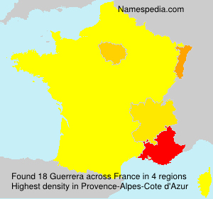 Surname Guerrera in France