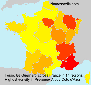 Surname Guerriero in France