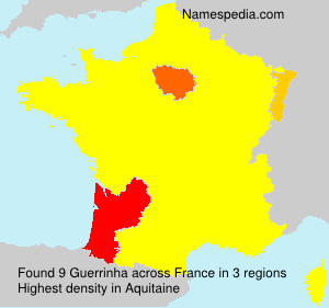 Surname Guerrinha in France