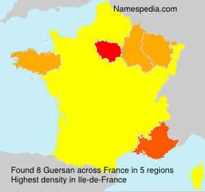 Surname Guersan in France