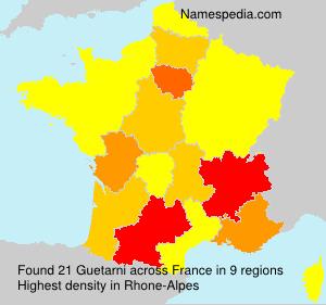 Surname Guetarni in France