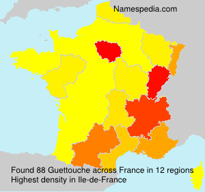 Surname Guettouche in France