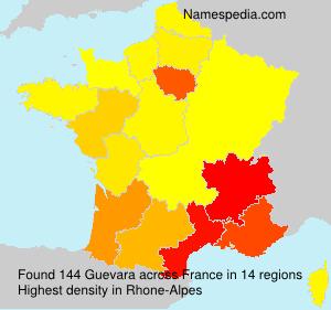 Surname Guevara in France
