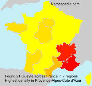 Surname Gueyte in France