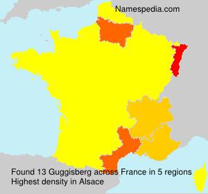 Familiennamen Guggisberg - France