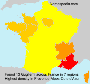 Surname Gugliemi in France