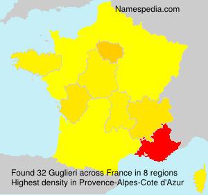 Familiennamen Guglieri - France