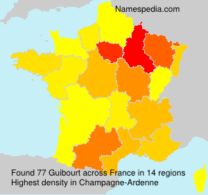 Surname Guibourt in France