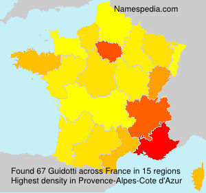 Surname Guidotti in France