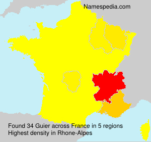 Surname Guier in France