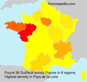 Surname Guiffault in France