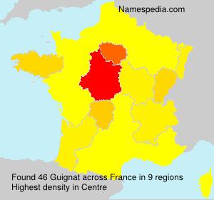 Familiennamen Guignat - France