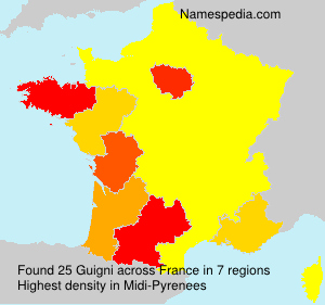 Surname Guigni in France