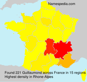 Surname Guillaumond in France