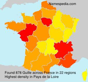 Familiennamen Guille - France