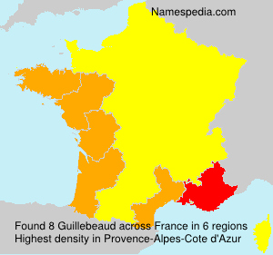 Surname Guillebeaud in France