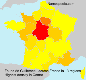 Surname Guillemeau in France