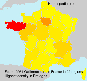Surname Guillemot in France