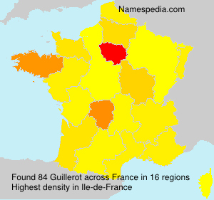 Surname Guillerot in France