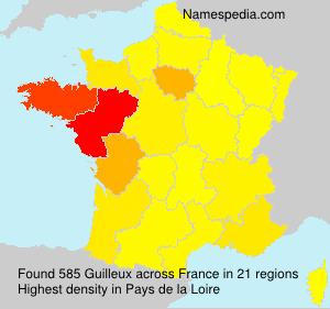 Surname Guilleux in France