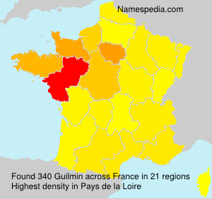 Surname Guilmin in France