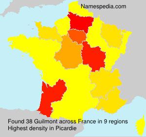 Surname Guilmont in France