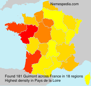 Surname Guimont in France