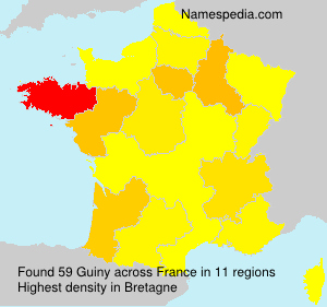 Surname Guiny in France