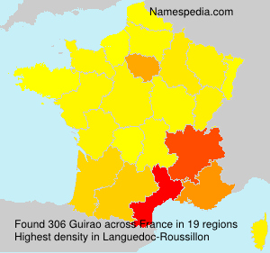 Surname Guirao in France